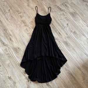 High - Low Black dress with mesh accent
